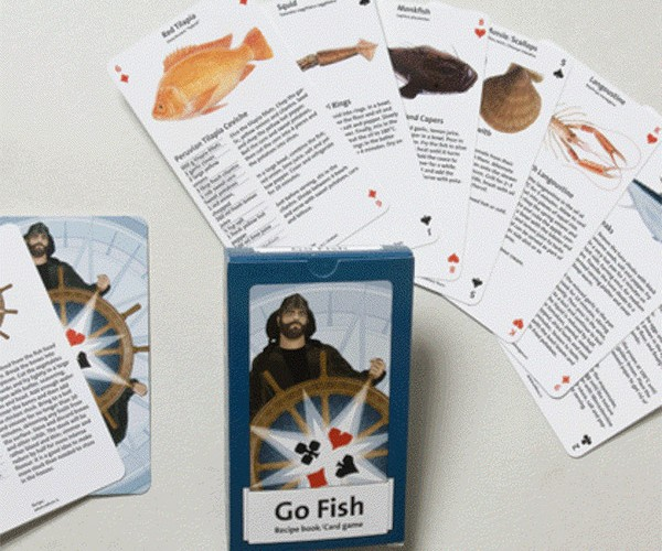 Literal Go Fish Playing Cards Teach You to Cook Actual Fish