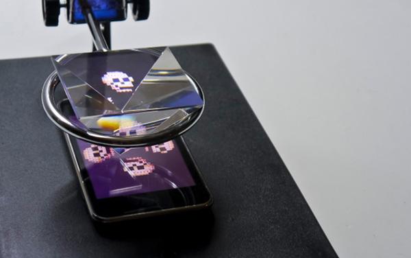 luminogeist yuri endo art installation smartphone  detail photo