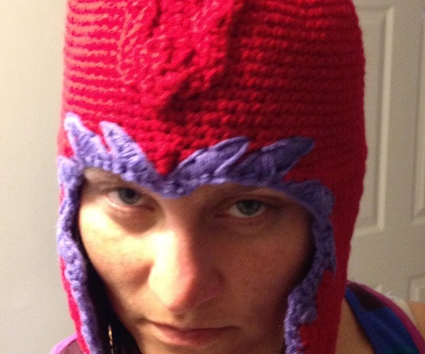 Crocheted Magneto Helmet Won't Protect You from Telepathic Attacks