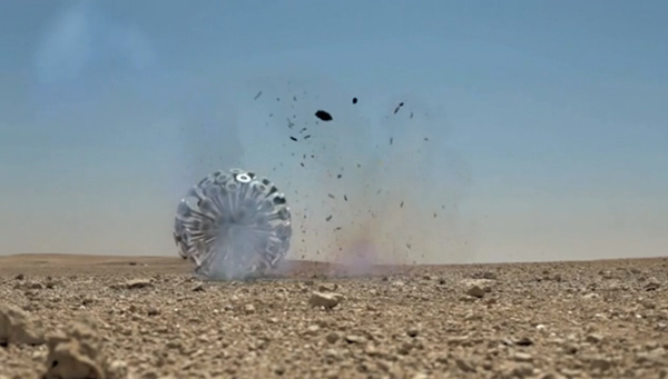 mine kafon landmine explosion photo