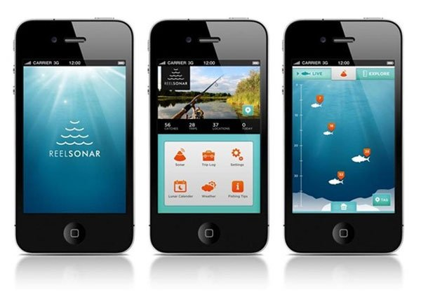 Reelsonar helps you catch fish with your smartphone for Phone fish finder