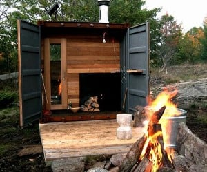 Shipping Container Sauna: If This Box is a Rockin', Don't Come a Knockin'