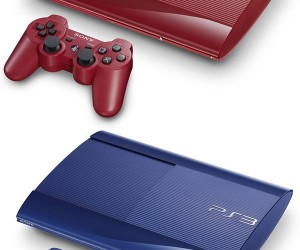 PS3 Slim Blue and Red Editions Heading to Japan This Month