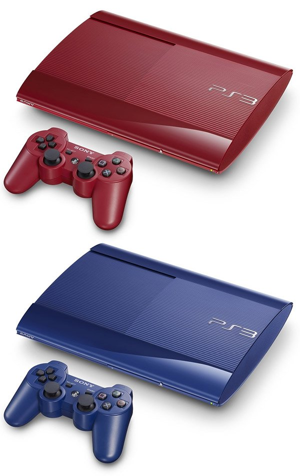 sony ps3 blue red