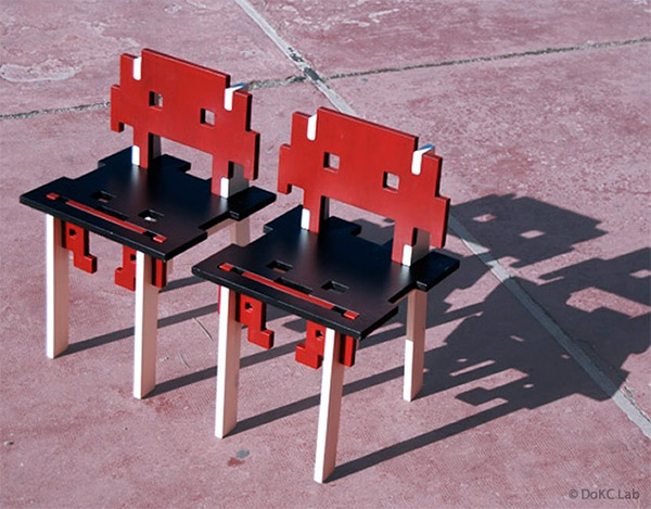 space invaders chairs 3