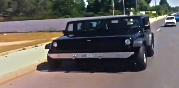 """""""Super Jeep"""" Takes up Two Lanes"""