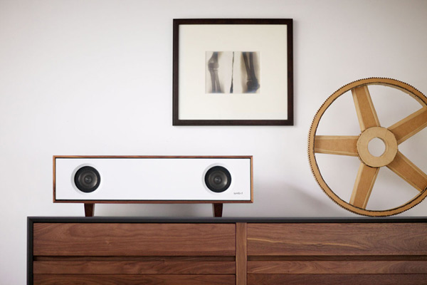 symbol audio tabletop hifi orange table photo