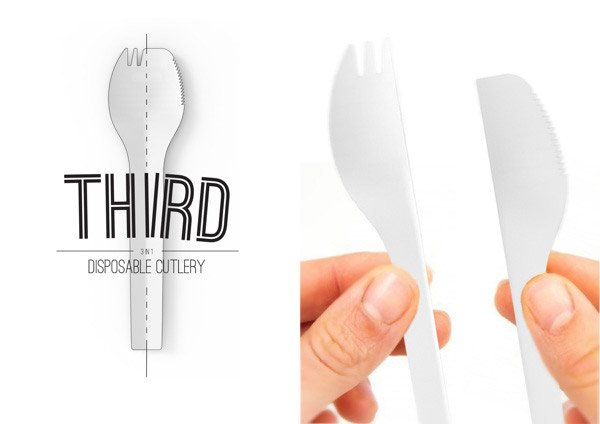 third disposable cutlery