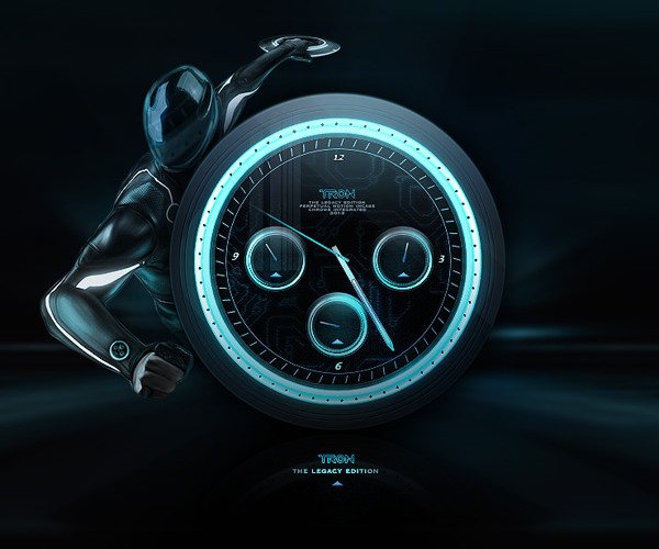 Glow in the Dark TRON Identity Disc Concept Watches: Enter the Grid