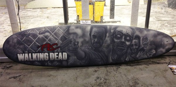 walking dead surfboard