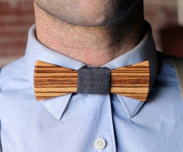 Wooden Bow Tie Needs No Tying