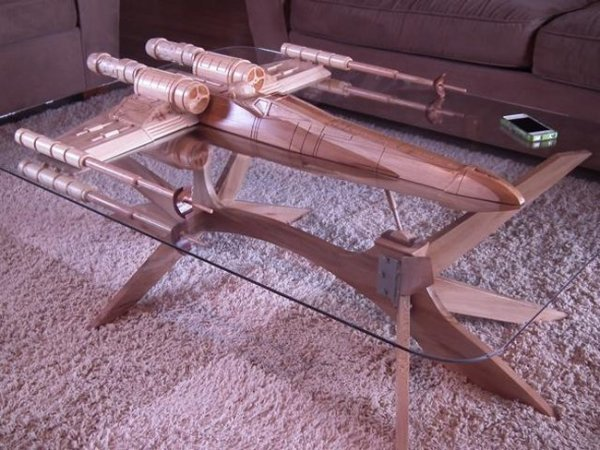 X-Wing Fighter Coffee Table: Stay on Target!