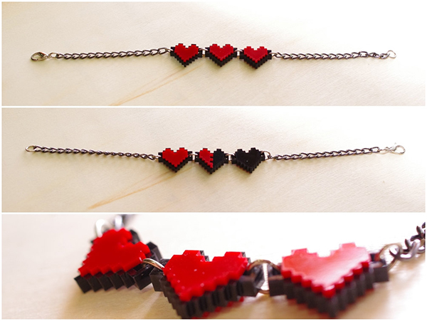 zelda pixel heart jewelry by nastalgame 2