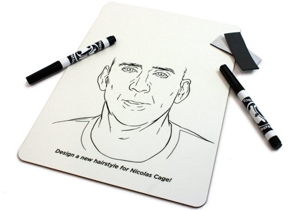 Give Nicolas Cage a New 'Do with Your Dry Erase Marker