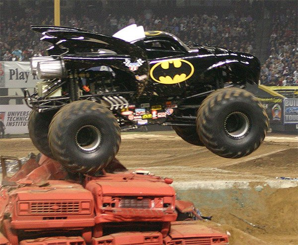 Batmobile Monster Truck: The Dark Knight Crushes