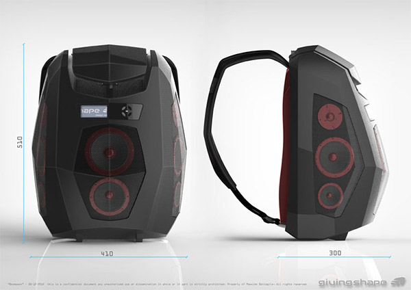 Boompack Boombox Backpack: Wear the Party on Your Back