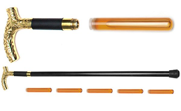 Brandy Smuggler Walking Cane Flask Helps You Stay Upright When You've Had Your Fill