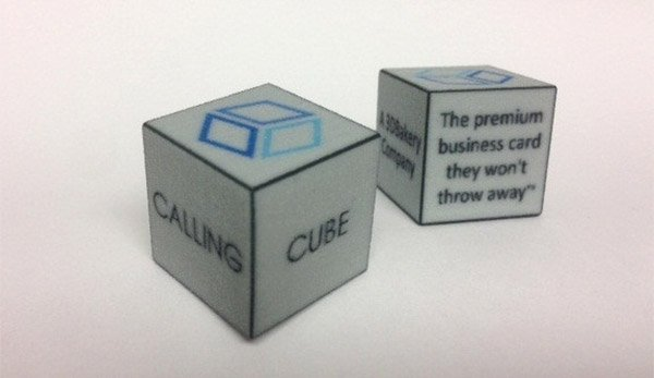 CallingCube Business Cards: But I Want My Card on a d20!