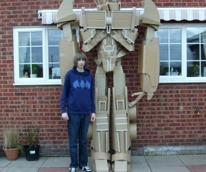 10-Foot-Tall Cardboard Optimus Prime: Boxes in Disguise