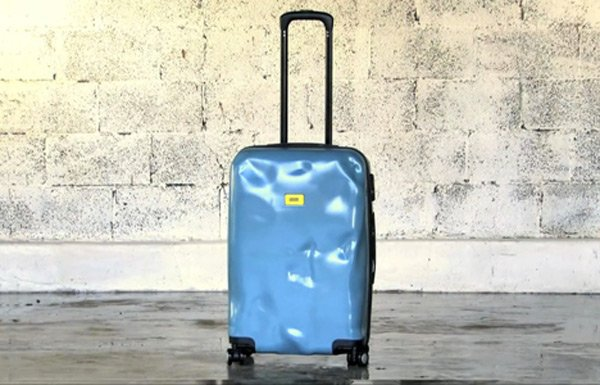 crash baggage suitcase pre damaged alone