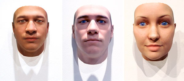 dna faces sculpture 3d print sample