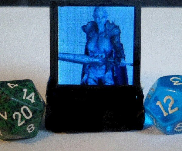 Doppelganger Game Token with Dual Screens: LCD&D