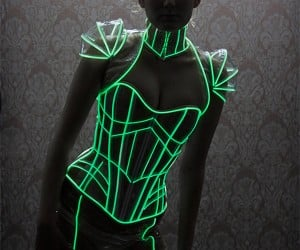 Glow-in-the-Dark Corset: Light up the Dance Floor, Literally.