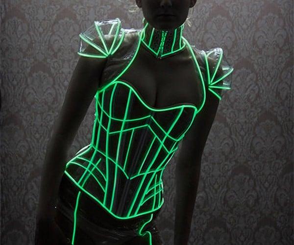 Glow-in-the-Dark Corset: Light up the Dance Floor, Literally.