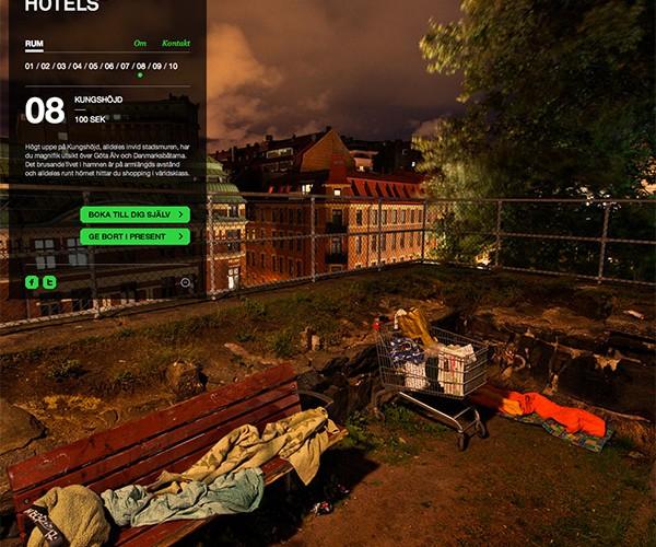 Swedish Concept Hotel Lets You Sleep Like the Homeless Do