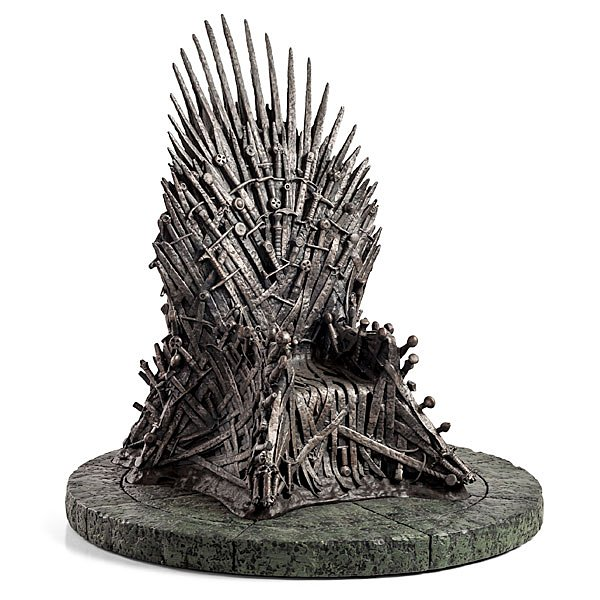 game of thrones iron throne 14 inch replica