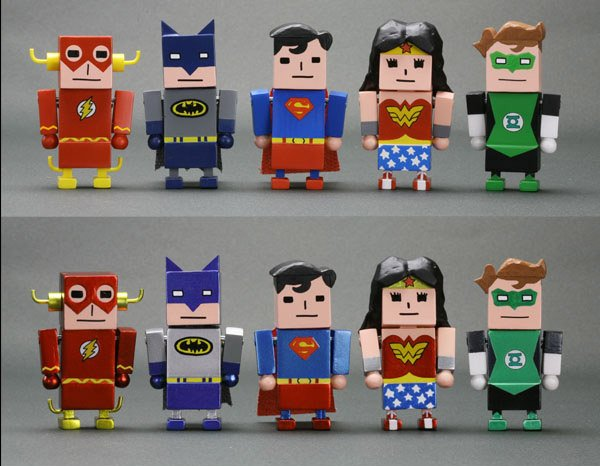 Justice League x Koreajani Mini-Figures: It's Hip to be Square