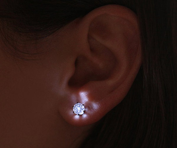 LED Crystal Earrings: You Light up My Lobes