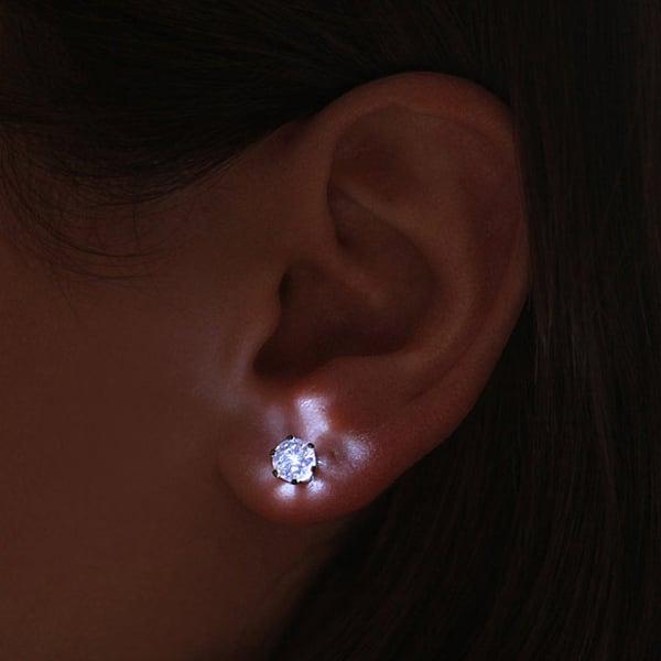 led crystal earrings light photo
