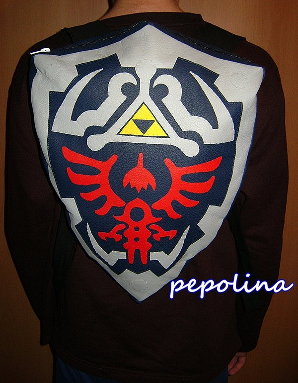 legend of zelda hylian shield backpack by pepolina