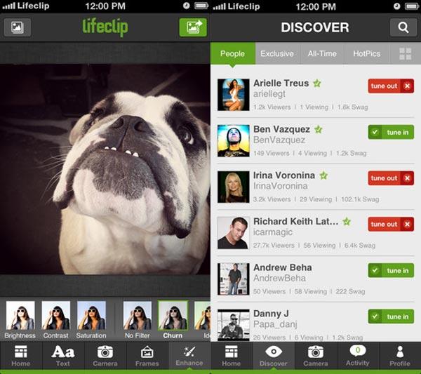 lifeclip ios app iphone photo edit