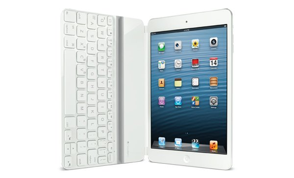 logitech ultrathin keyboard ipad mini side photo