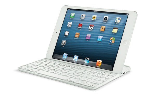 logitech ultrathin keyboard ipad mini white photo