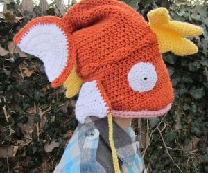 magikarp pokemon crocheted hat by corlista 300x250