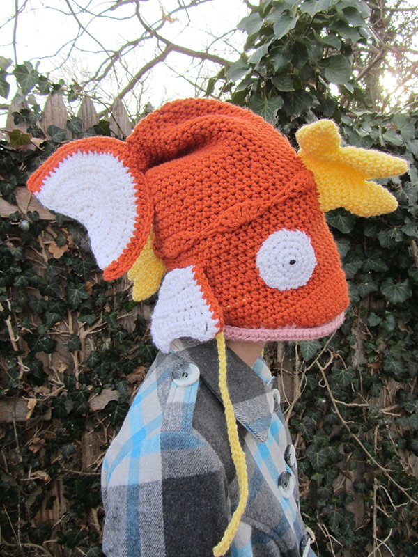 magikarp pokemon crocheted hat by corlista