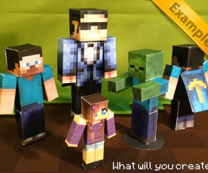 Minecraft Papercraft Studio Lets You Print Minecraft Models: Proto-3D Printing