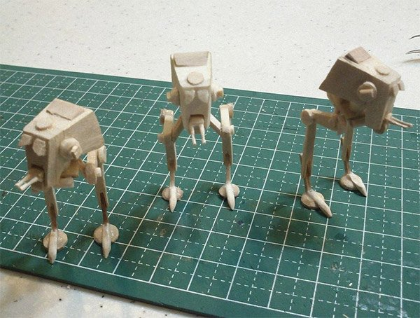The Empire Strikes Small: Mini AT-ST Popsicle Stick Models