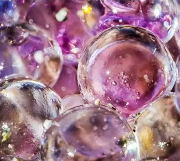 mysterious purple spheres close photo