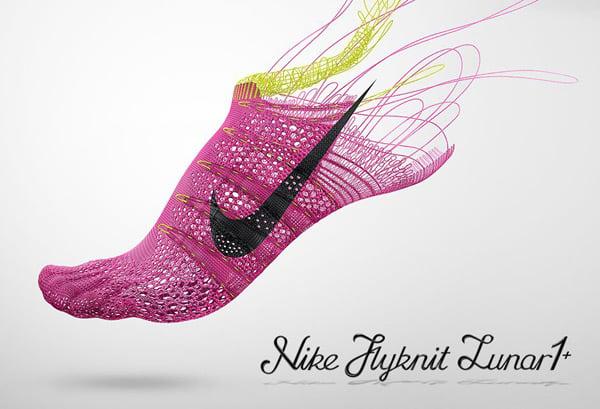 nike flyknit lunar one plus trainer shoe knitting photo