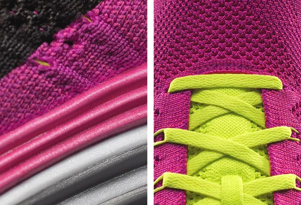 nike flyknit lunar one plus trainer shoe pink