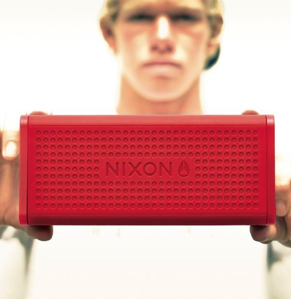nixon blaster bluetooth speaker in hand photo