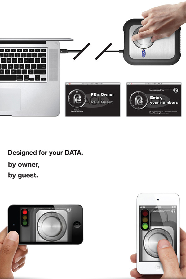 pe external secure hard drive design photo