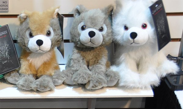 plush game of thrones direwolves