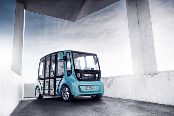 rinspeed micromax ev concept driving photo