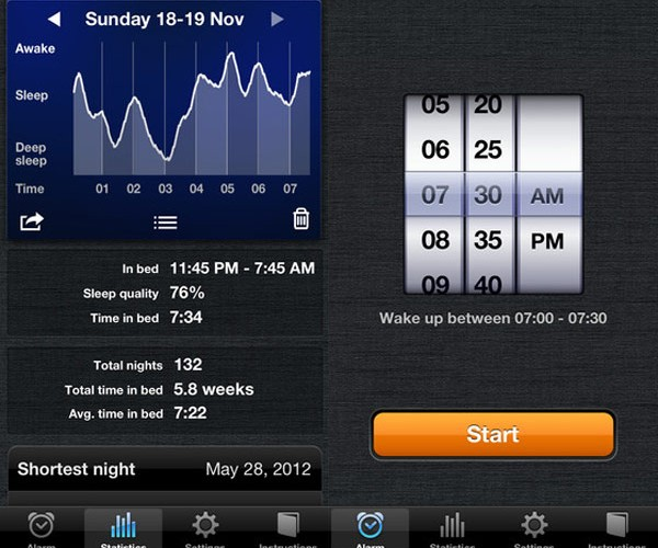 Sleep Cycle Alarm Clock for iPhone Wakes Even the Grumpiest Sleepers