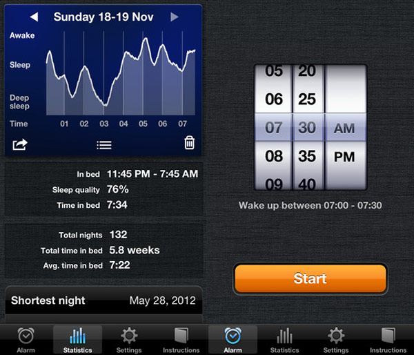 sleep cycle alarm ios photo